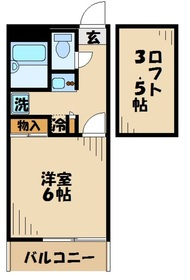本厚木駅 バス21分「宿原」徒歩5分1階Fの間取り画像