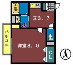 ブルーベル2階Fの間取り画像