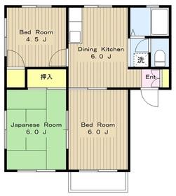 アーバンハイツYAMATO2階Fの間取り画像