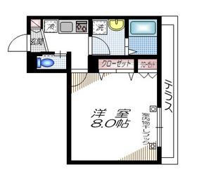 ドルチェガーデン東館1階Fの間取り画像