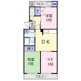 ウィステリア8015階Fの間取り画像