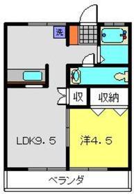 綱島駅 徒歩15分3階Fの間取り画像