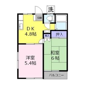 コーポ内田1階Fの間取り画像