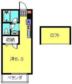 リリエンハイムⅤ2階Fの間取り画像