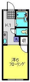 ハイムキリハタ2階Fの間取り画像