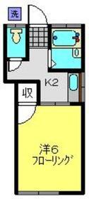 高橋ハイツ2階Fの間取り画像