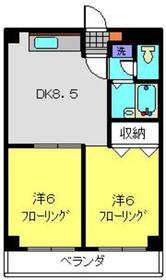 鷺沼駅 徒歩8分2階Fの間取り画像