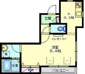 ドムスSY3階Fの間取り画像