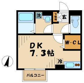 厚木駅 車17分1.4キロ1階Fの間取り画像