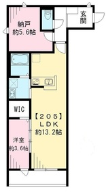 ロックフォレスト2階Fの間取り画像
