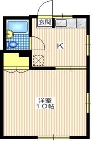 メゾン逗子1階Fの間取り画像