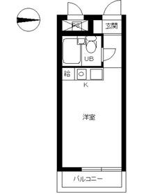 スカイコート橋本12階Fの間取り画像