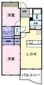 リーバグラジーア2階Fの間取り画像