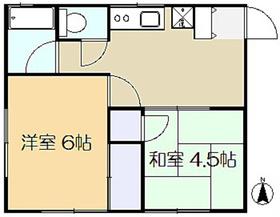 マロンハイツA棟1階Fの間取り画像