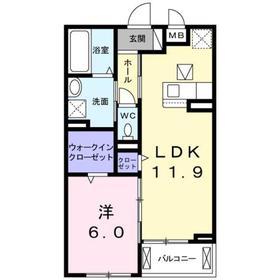 香川駅 徒歩11分1階Fの間取り画像