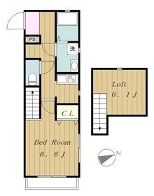 TAKAガーデン2階Fの間取り画像