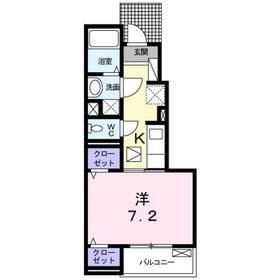 プラシード高島平1階Fの間取り画像