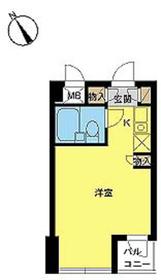 スカイコート田端6階Fの間取り画像