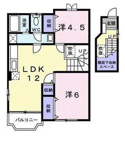 レジデンス舞2階Fの間取り画像