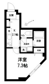 メゾンロジィエ1階Fの間取り画像