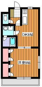 メゾン稲垣21階Fの間取り画像