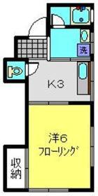 栄荘1階Fの間取り画像