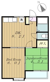 小野ハイツ1階Fの間取り画像
