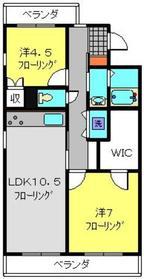 日吉セントラルハイツ1階Fの間取り画像
