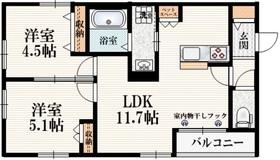 西武柳沢駅 徒歩32分2階Fの間取り画像