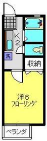 グリーンドエル三春台2階Fの間取り画像
