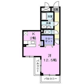 サニーフィールド3階Fの間取り画像
