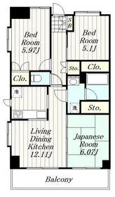 第20ナミキハイム4階Fの間取り画像