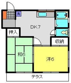 綱島駅 徒歩4分1階Fの間取り画像