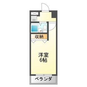 平岡マンション1階Fの間取り画像