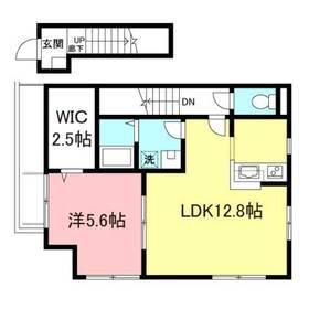 メゾンベール桜2階Fの間取り画像