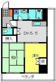 第1八千代ビル5階Fの間取り画像