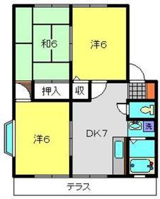 メゾンドールA1階Fの間取り画像