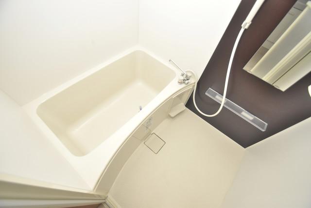 Tースクエア布施 ちょうどいいサイズのお風呂です。お掃除も楽にできますよ。