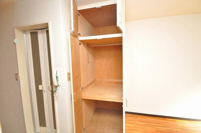 ハイツせせらぎ もちろん収納スペースも確保。いたれりつくせりのお部屋です。
