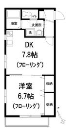 セントラル高田馬場2階Fの間取り画像