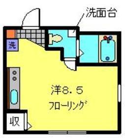 アックス蒔田1階Fの間取り画像