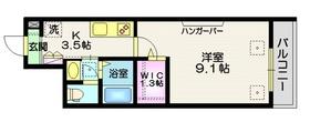 RIZO GOTENYAMA2階Fの間取り画像