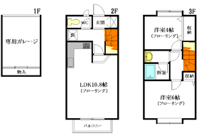 ルート松ノ木ハウス A棟2-3階Fの間取り画像