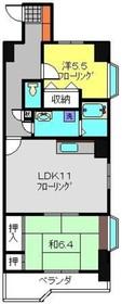 KNCビル弐番館4階Fの間取り画像