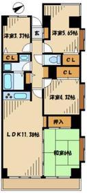 リシャール津久井湖4階Fの間取り画像