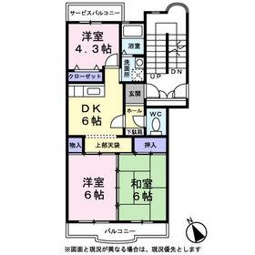 パストラル宮岡3階Fの間取り画像