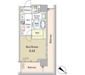 ルミレイス豊洲8階Fの間取り画像
