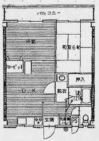 マンション大島2階Fの間取り画像