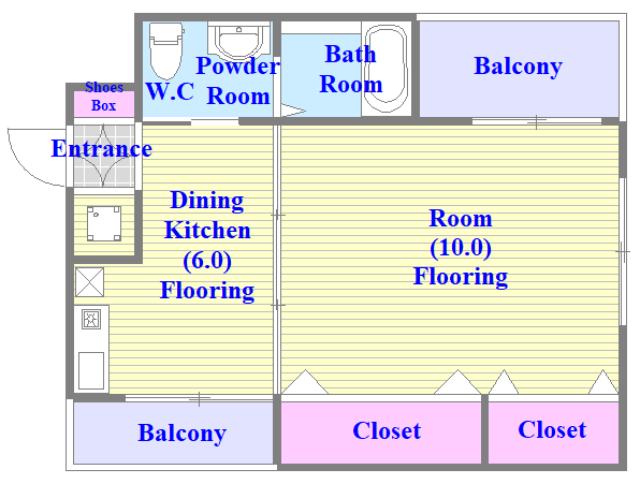 ファーストアベニール シンプルな住み心地を実感できる素敵な間取りになってます。