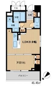 HF新横浜レジデンス9階Fの間取り画像